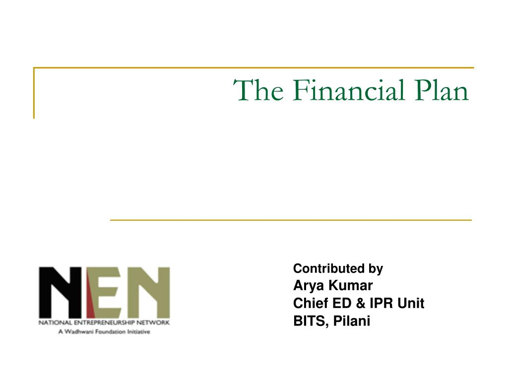 the financial plan l.