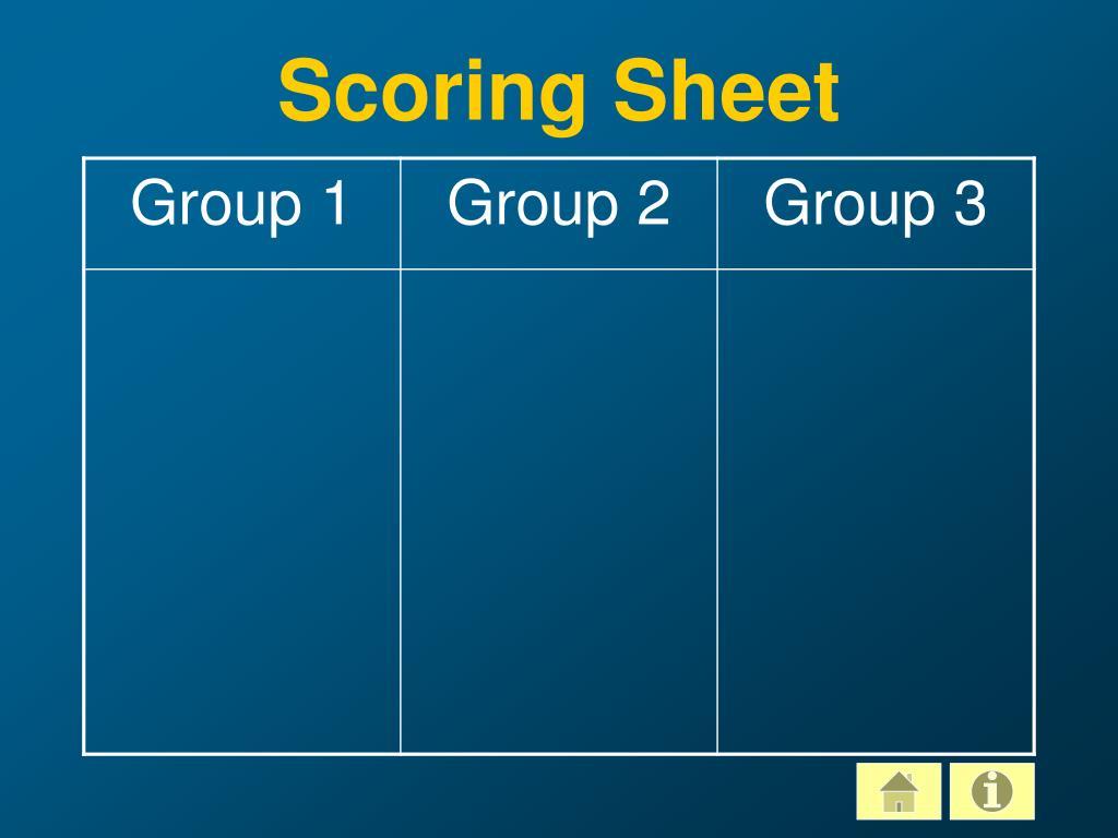 Scoring Sheet