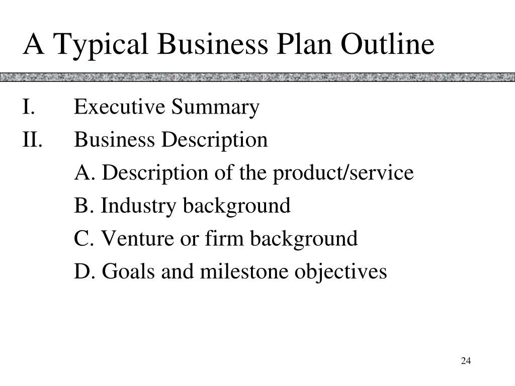 A Typical Business Plan Outline