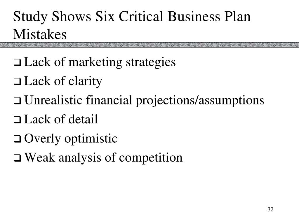 Study Shows Six Critical Business Plan Mistakes