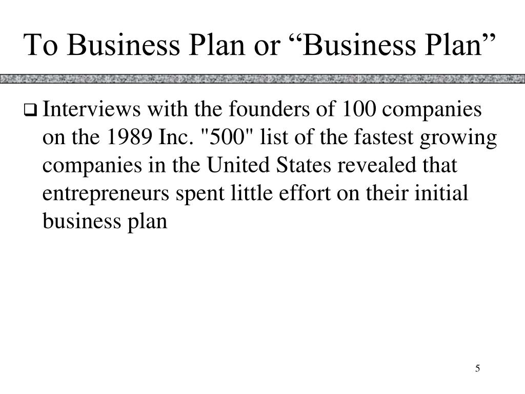 """To Business Plan or """"Business Plan"""""""
