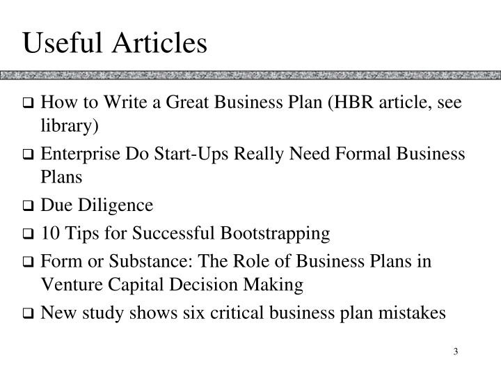 Useful articles
