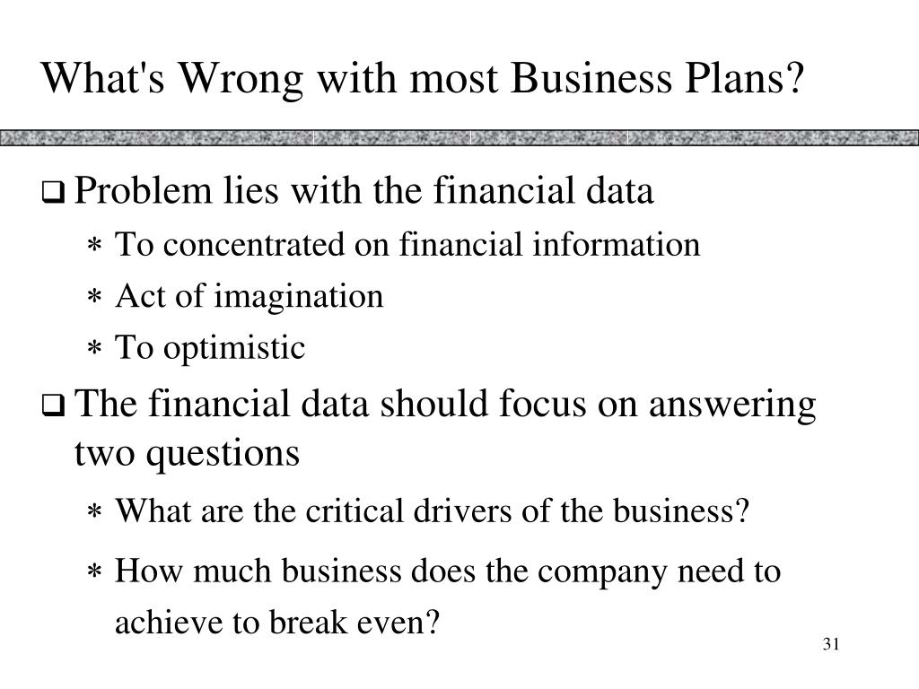 What's Wrong with most Business Plans?