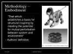 methodology embodiment