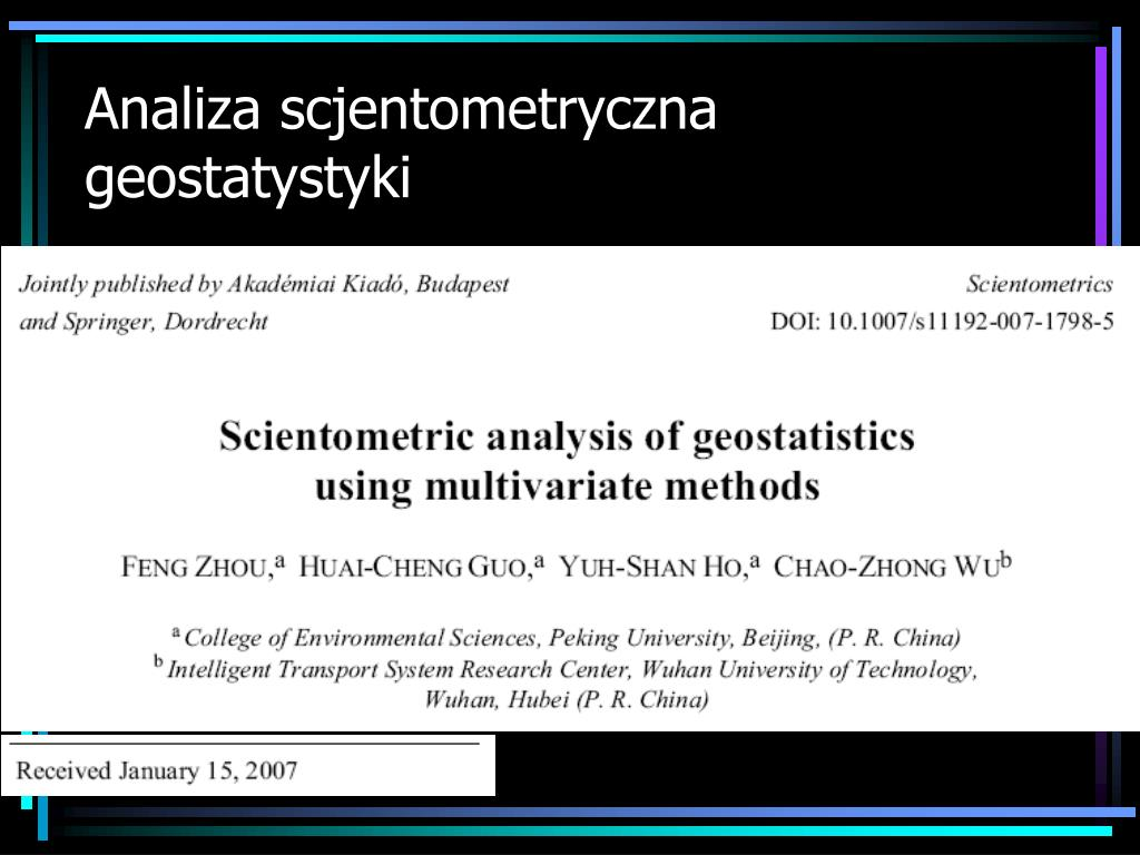 Analiza scjentometryczna
