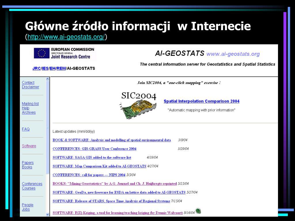 Główne źródło informacji  w Internecie