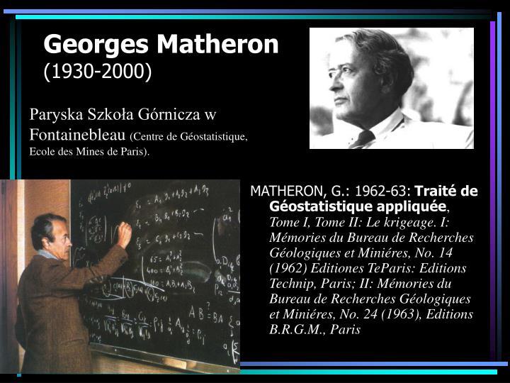 Georges matheron 1930 2000
