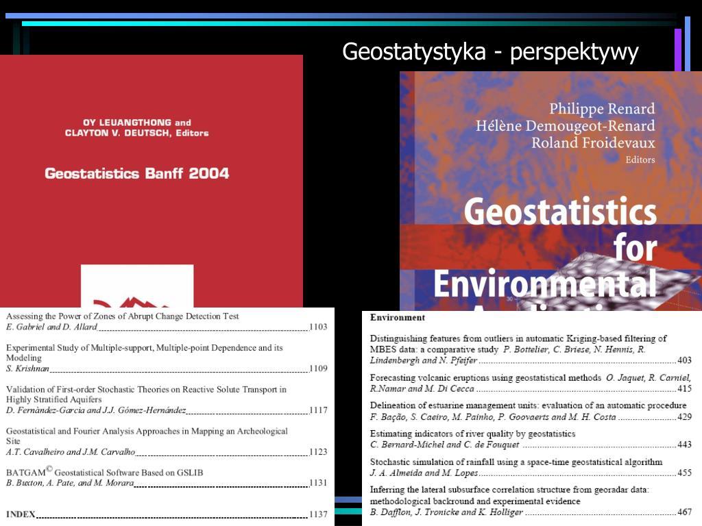 Geostatystyka - perspektywy