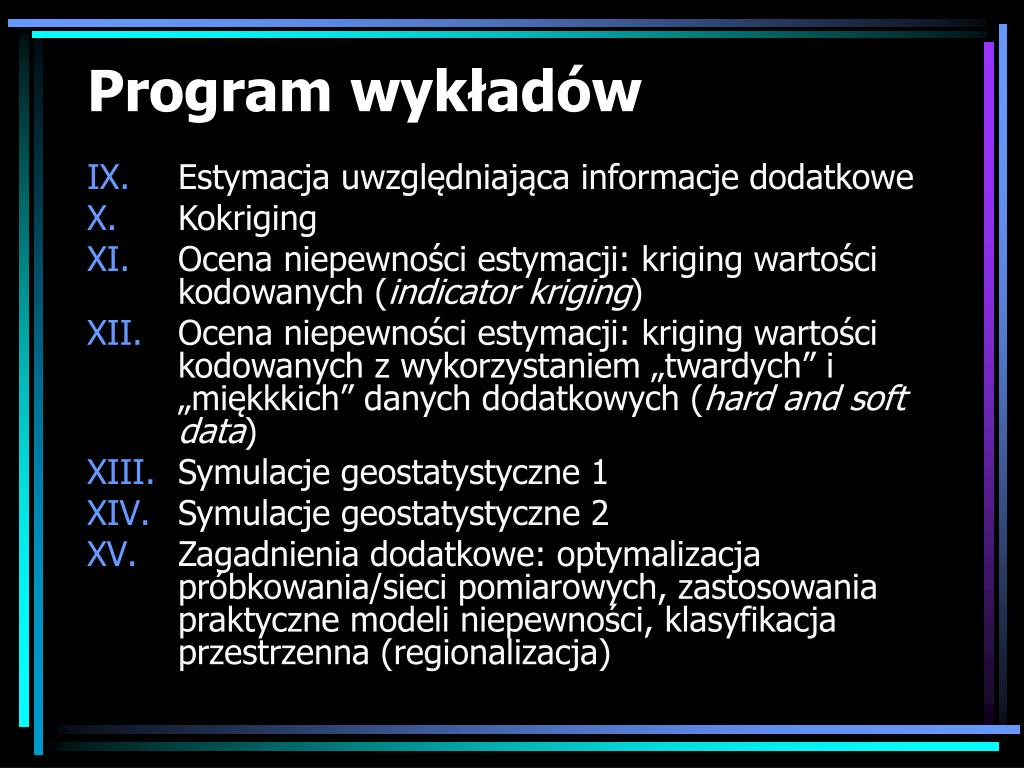 Program wykładów