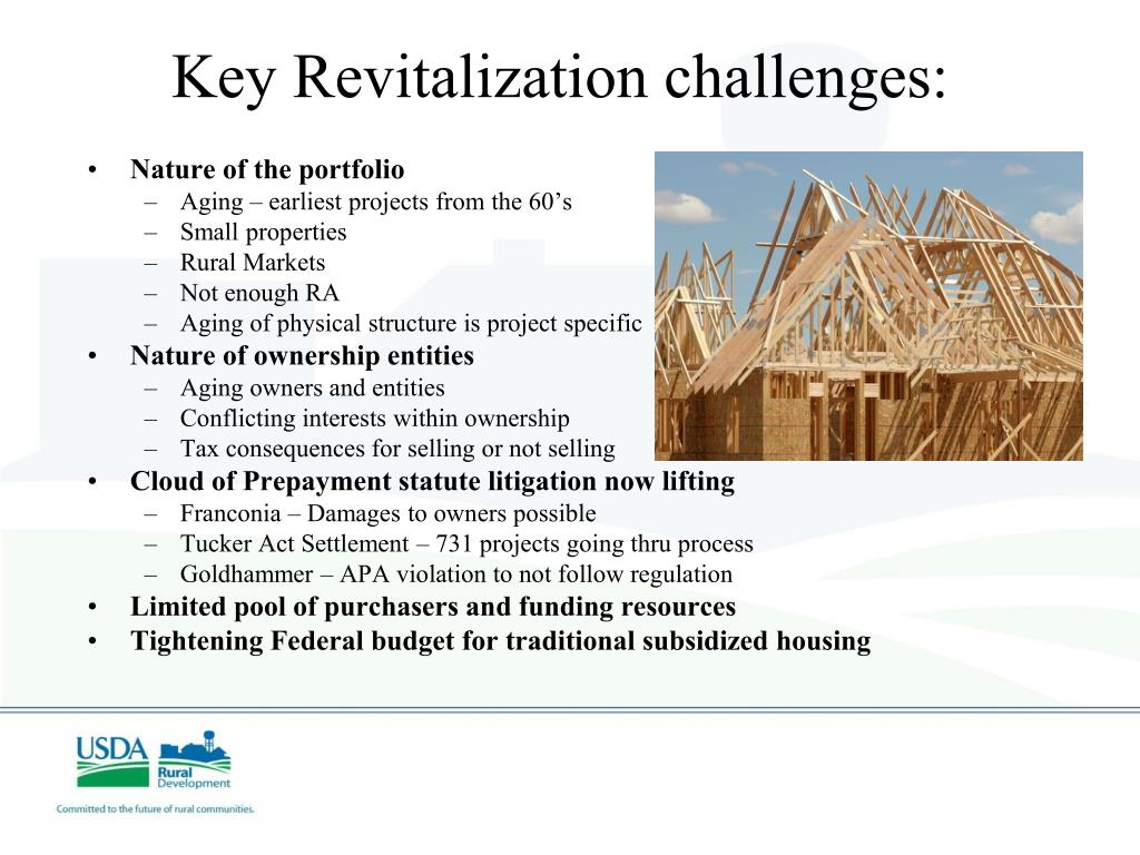 Key Revitalization challenges: