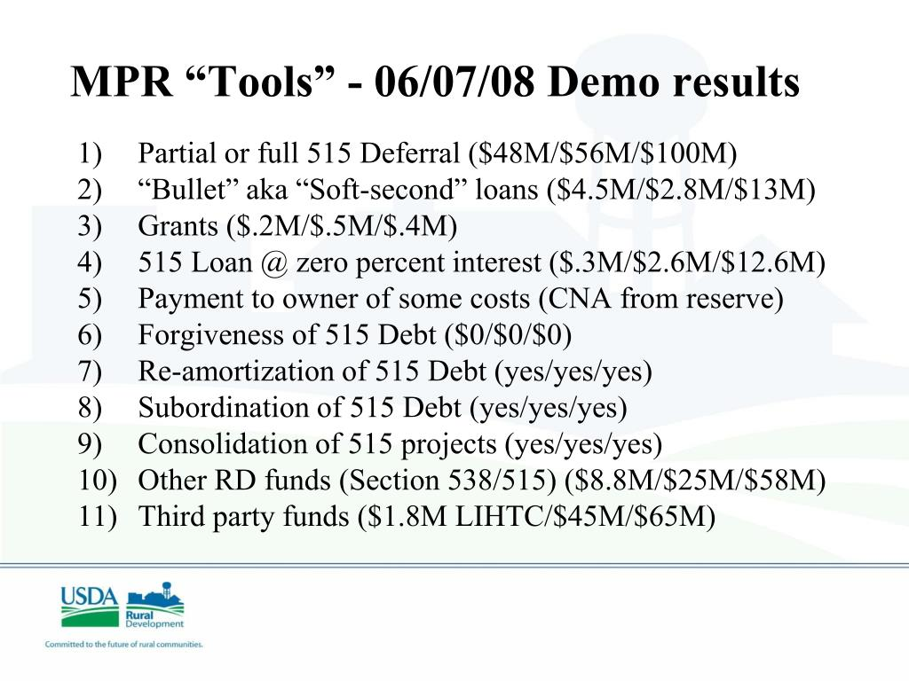 "MPR ""Tools"" - 06/07/08 Demo results"