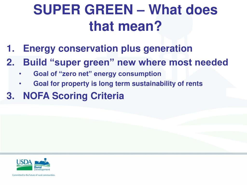SUPER GREEN – What does that mean?