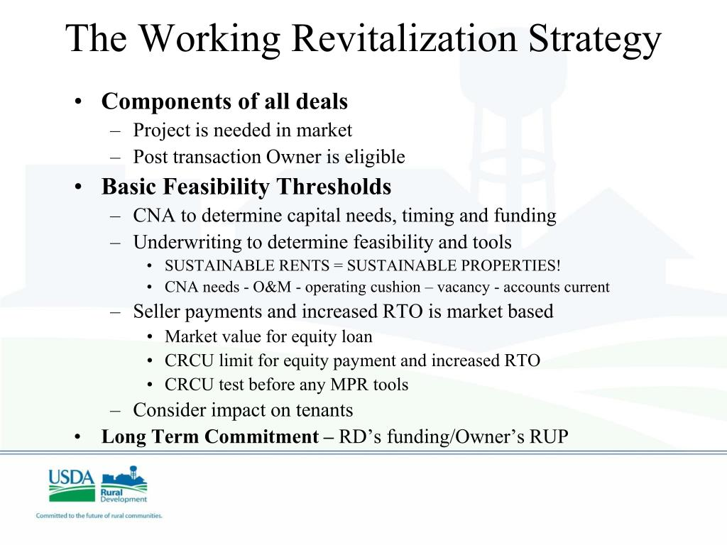 The Working Revitalization Strategy