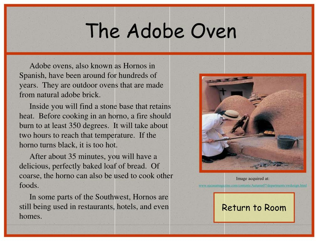The Adobe Oven