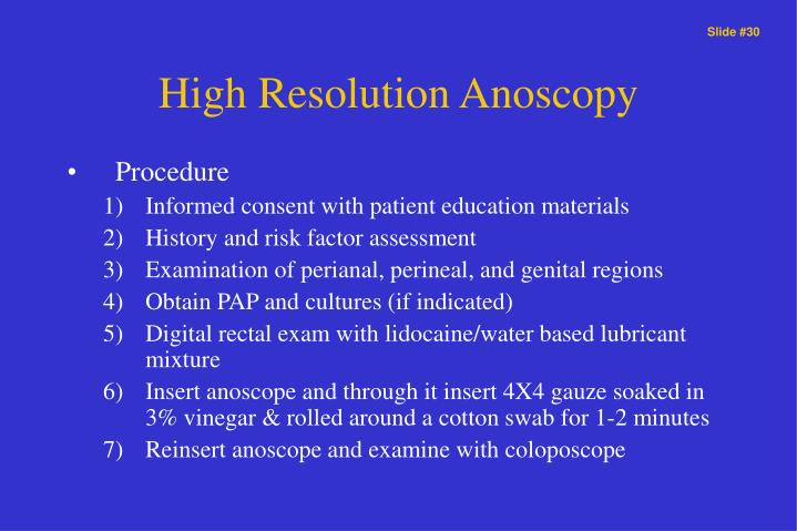 High Resolution Anoscopy