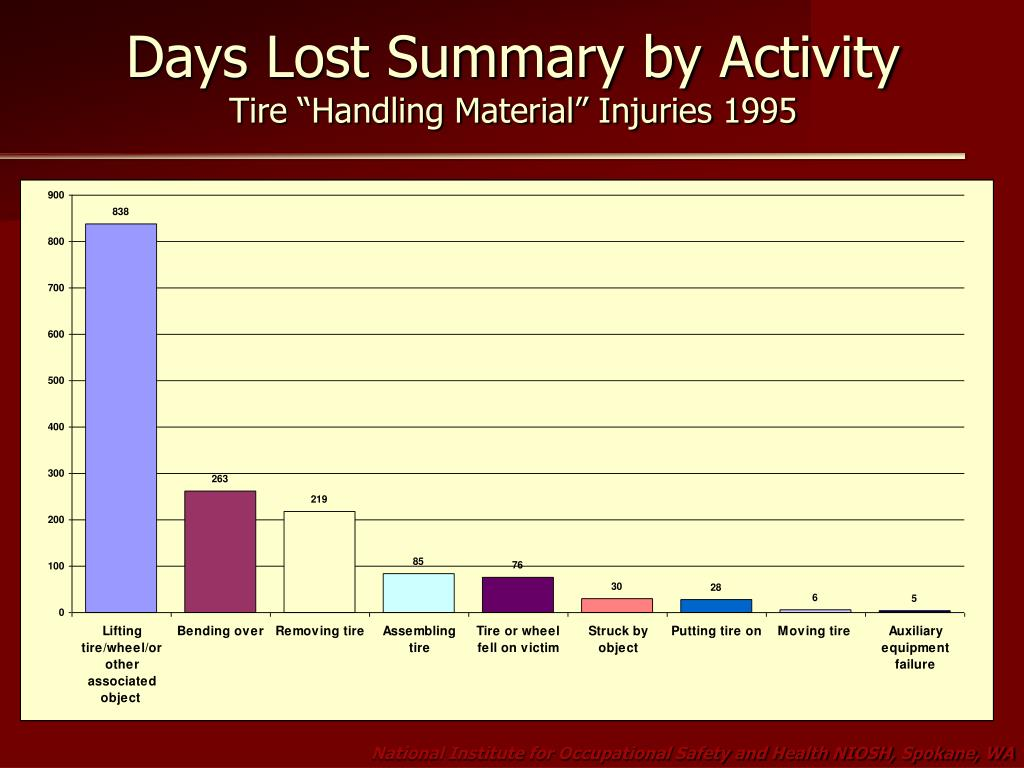 Days Lost Summary by Activity