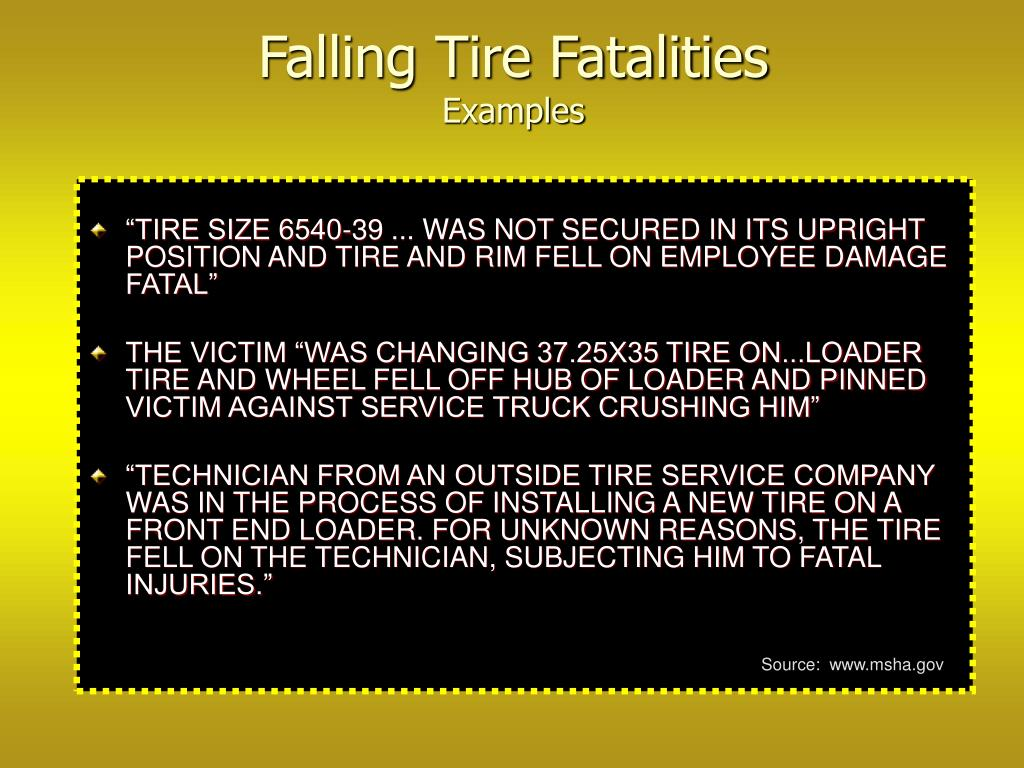 Falling Tire Fatalities