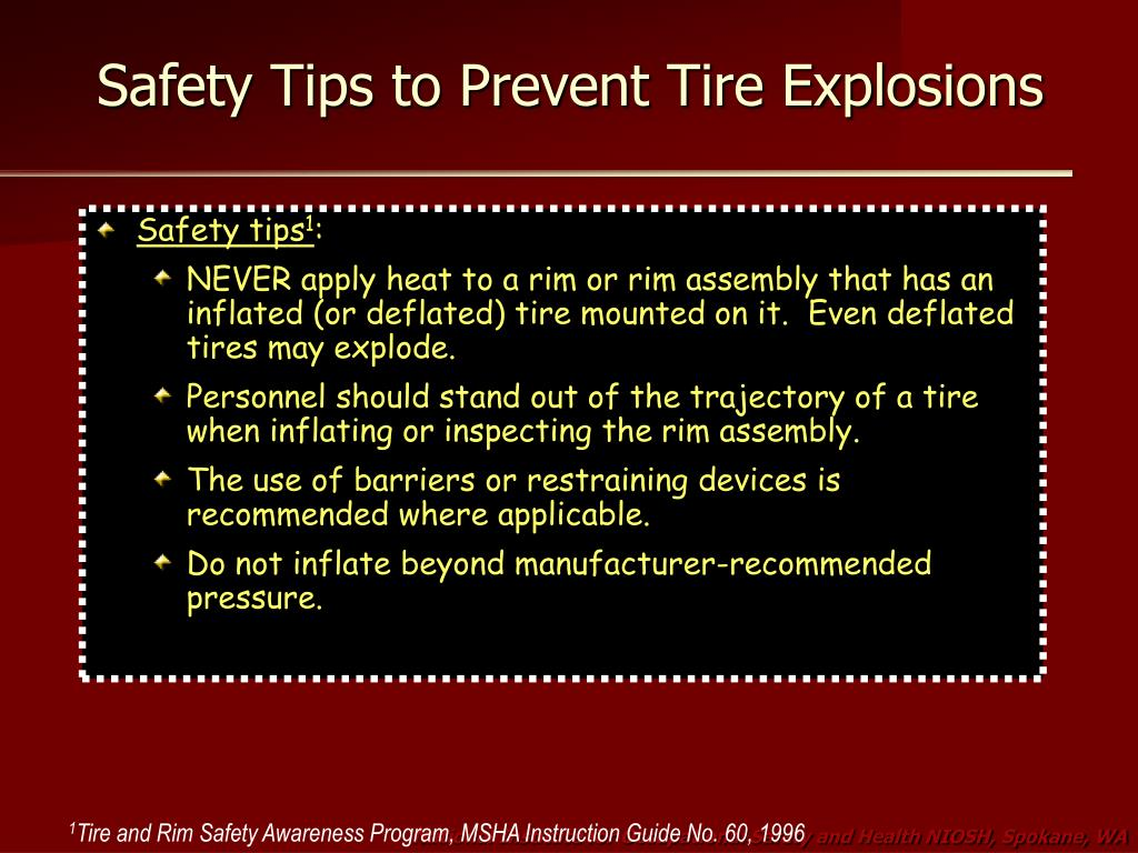 Safety Tips to Prevent Tire Explosions