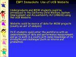 ebp immediate use of ucb website