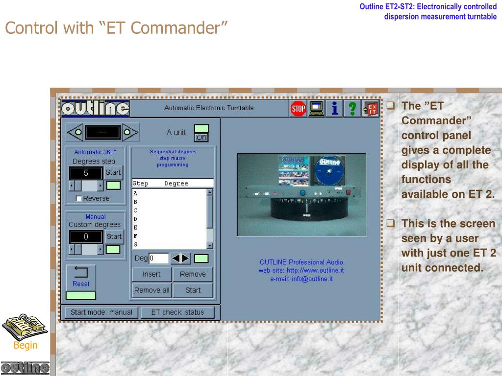 "Control with ""ET Commander"""