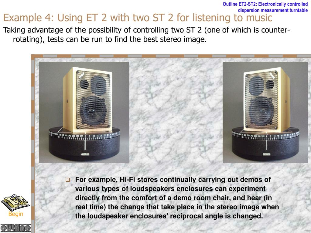 Example 4: Using ET 2 with two ST 2 for listening to music