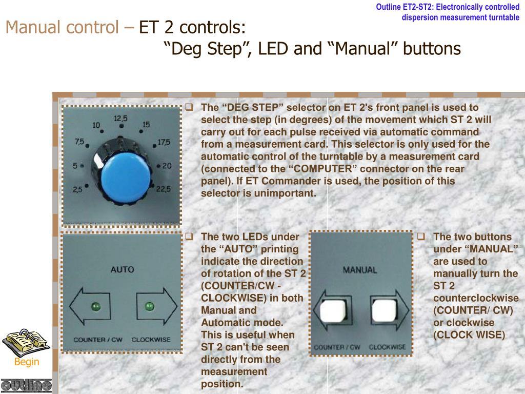 Manual control –