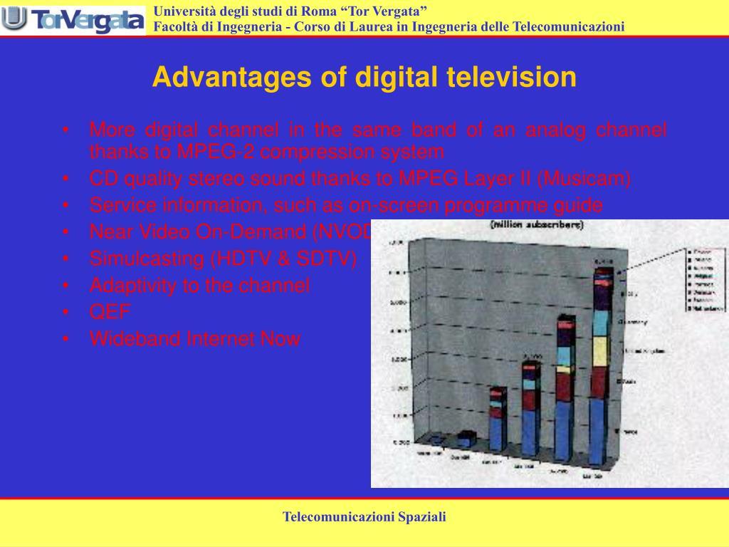Advantages of digital television