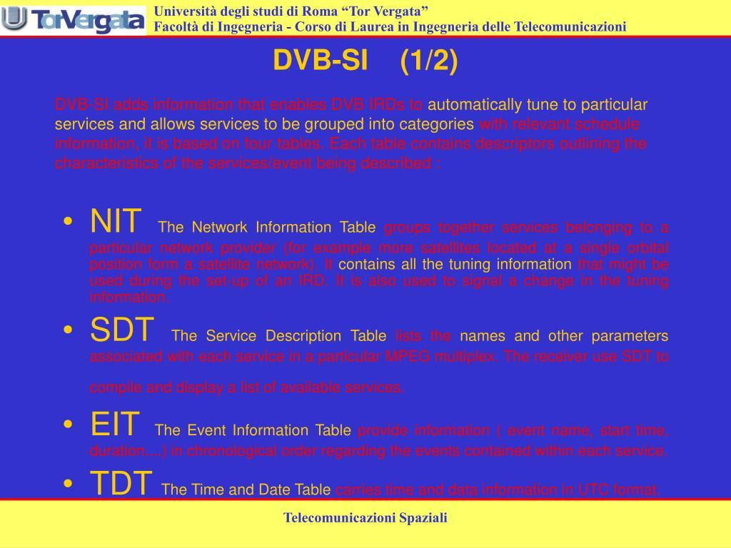 DVB-SI    (1/2)