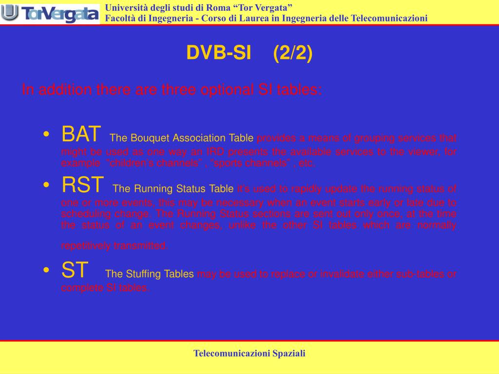 DVB-SI    (2/2)