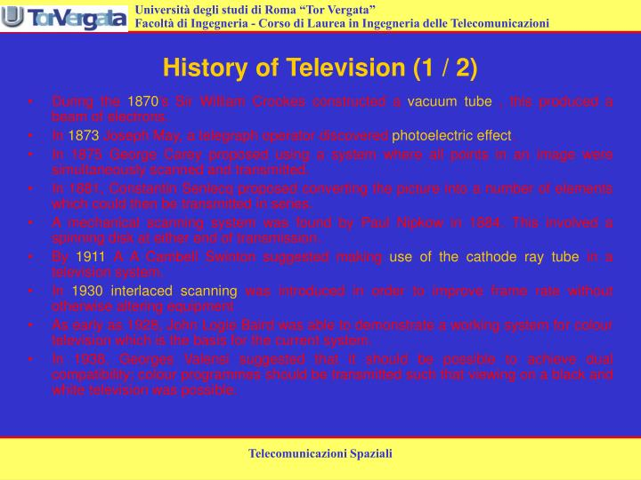 History of television 1 2