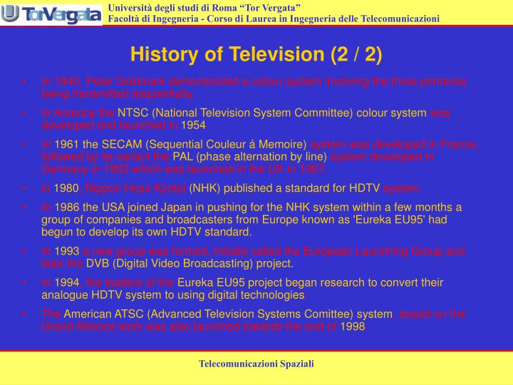 History of television 2 2