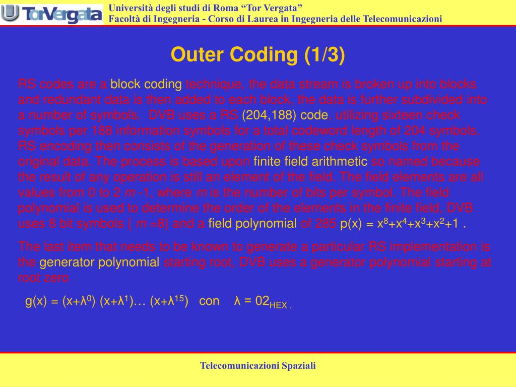 Outer Coding (1/3)
