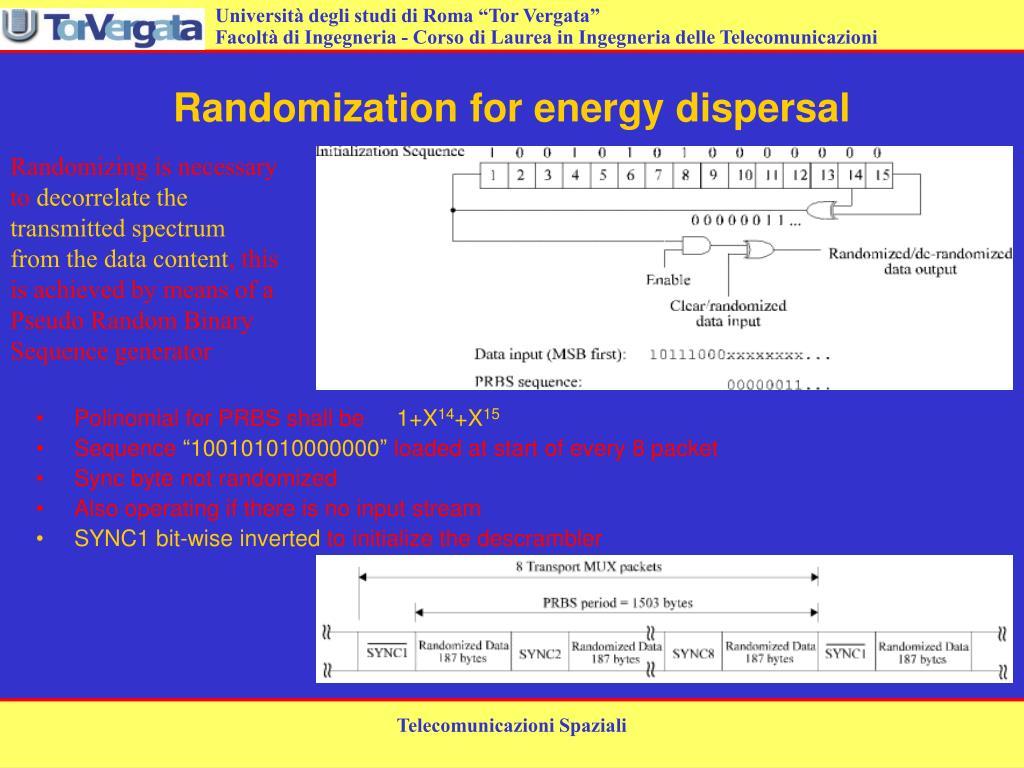 Randomization for energy dispersal