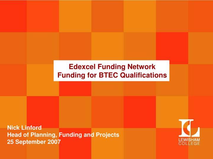 Edexcel Funding Network
