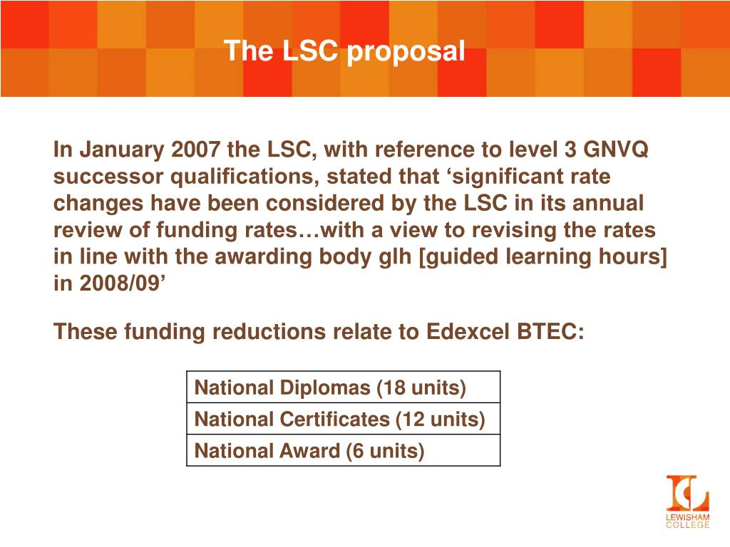 The LSC proposal