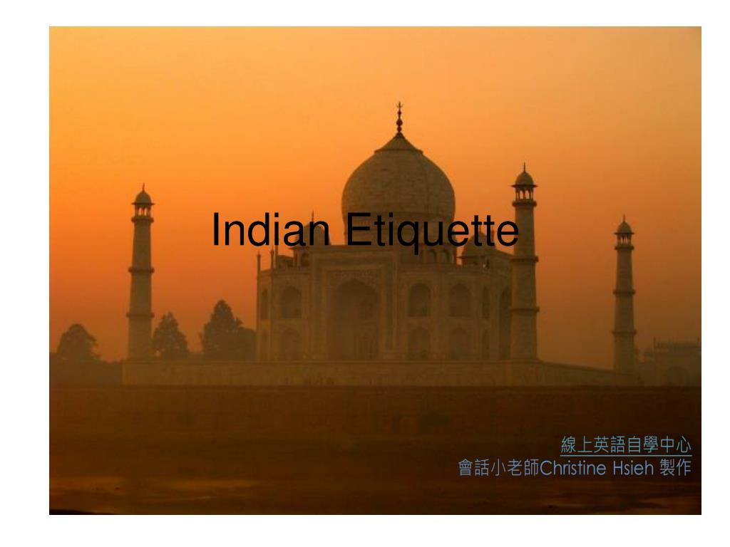 indian etiquette l.