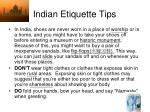indian etiquette tips