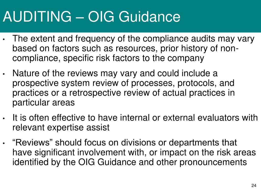 AUDITING – OIG Guidance