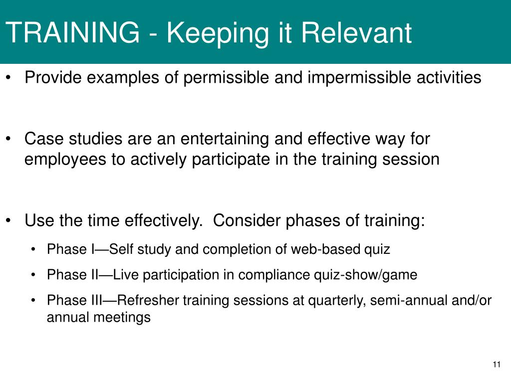 TRAINING - Keeping it Relevant