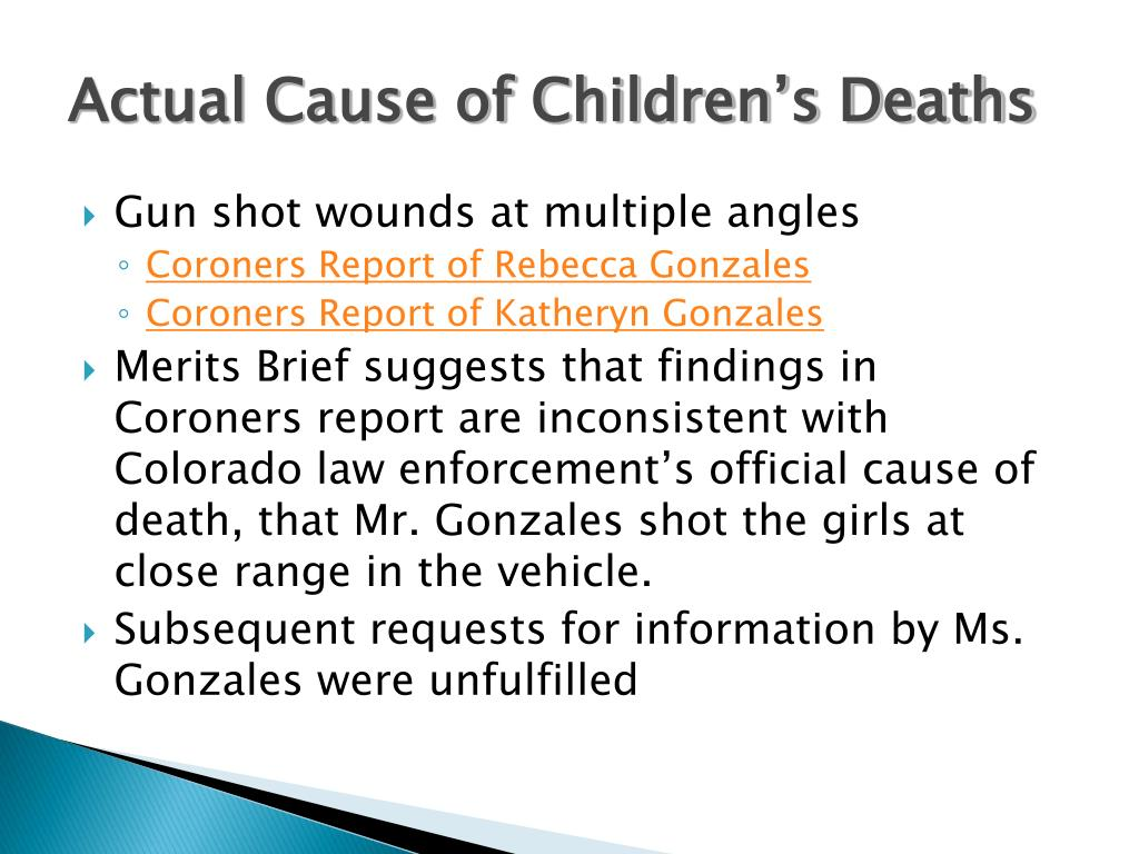 Actual Cause of Children's Deaths