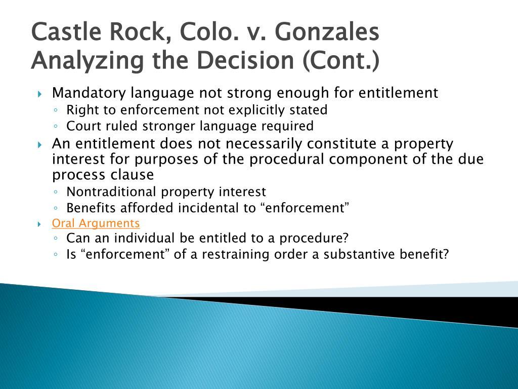 Castle Rock, Colo. v. Gonzales