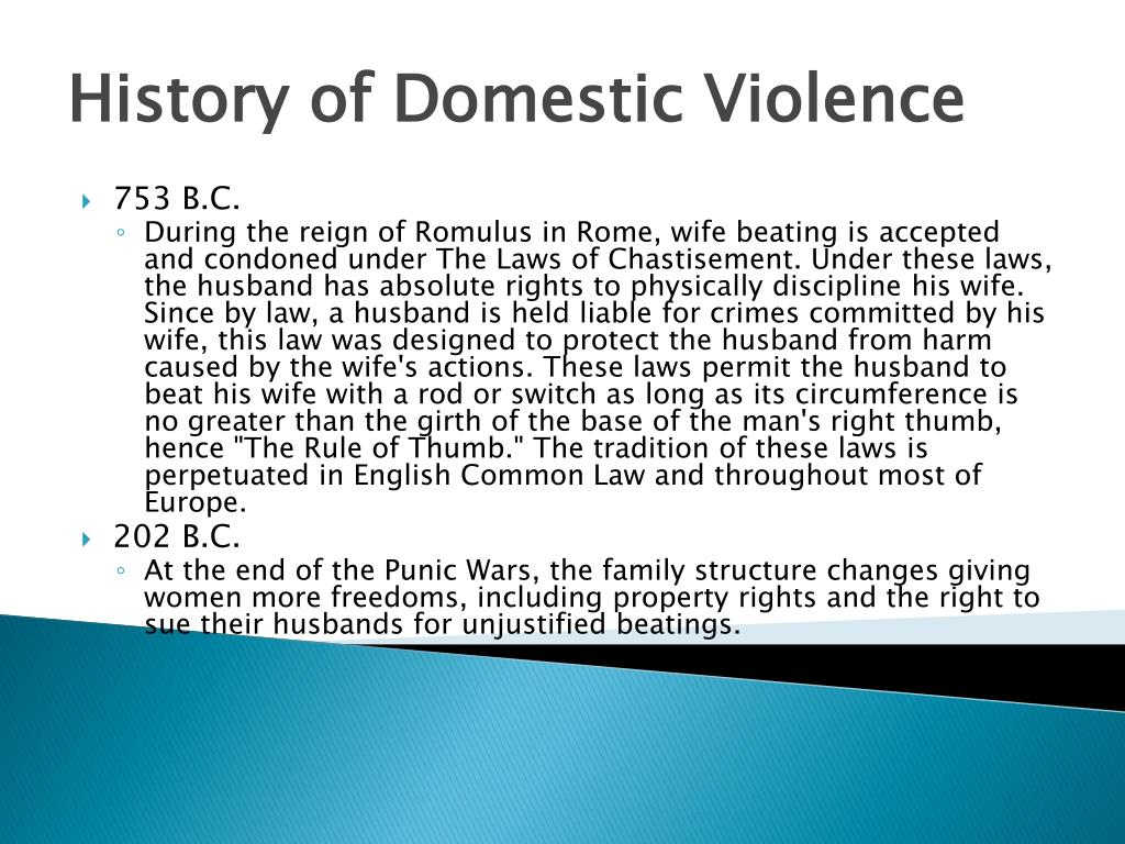 History of Domestic Violence