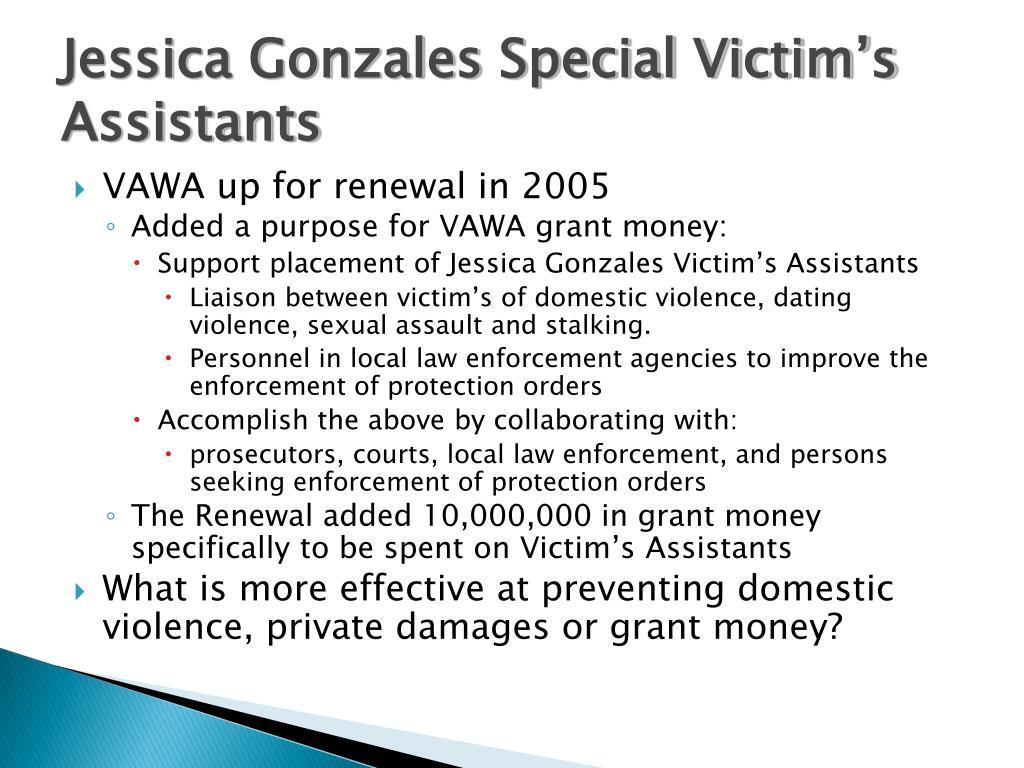 Jessica Gonzales Special Victim's Assistants