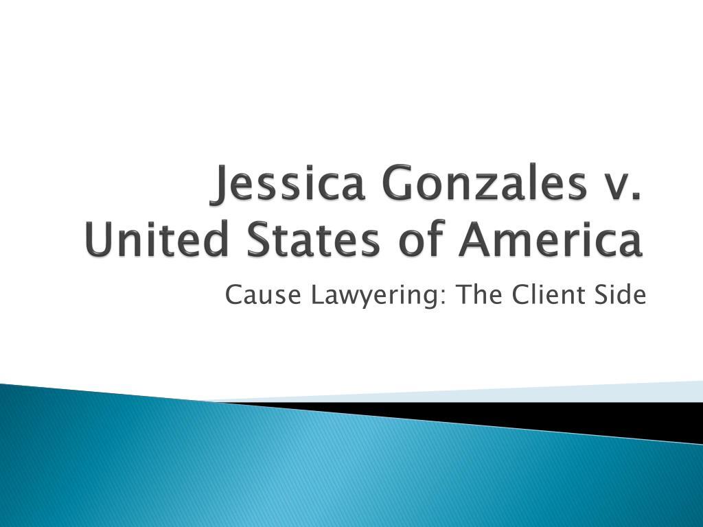 Jessica Gonzales v. United States of America
