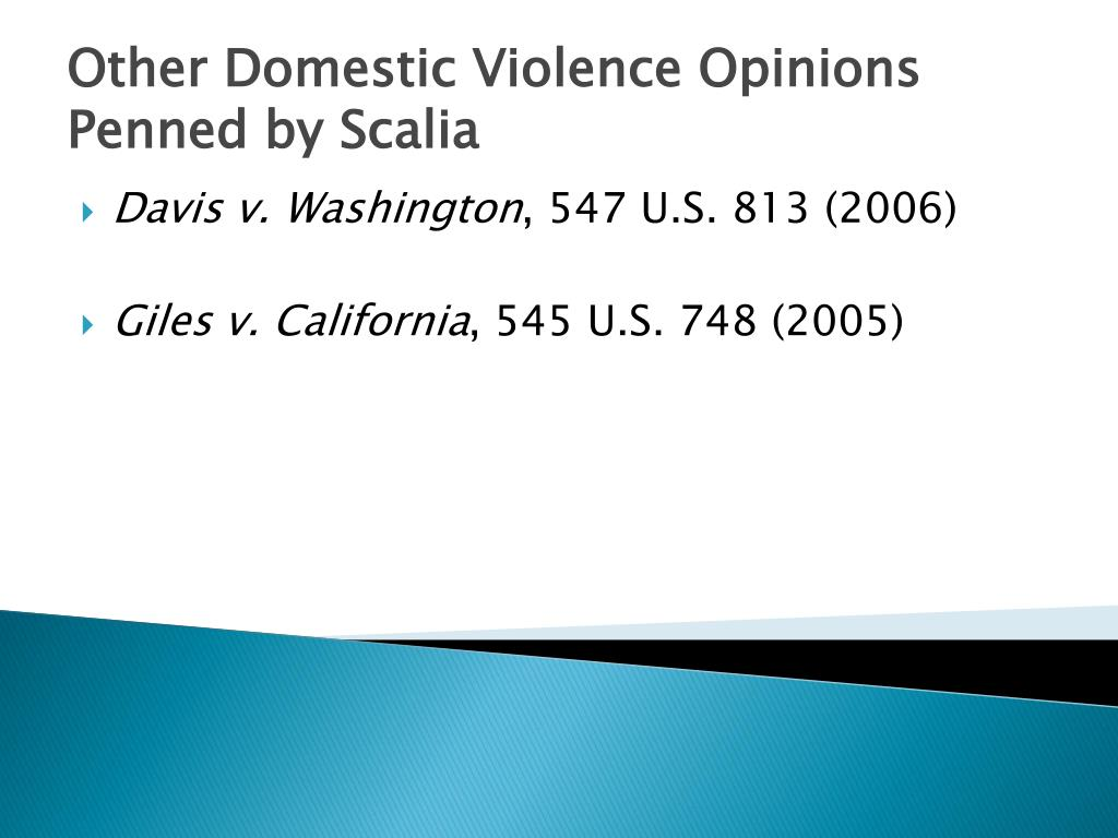 Other Domestic Violence Opinions Penned by Scalia