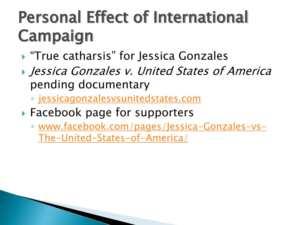 Personal Effect of International Campaign