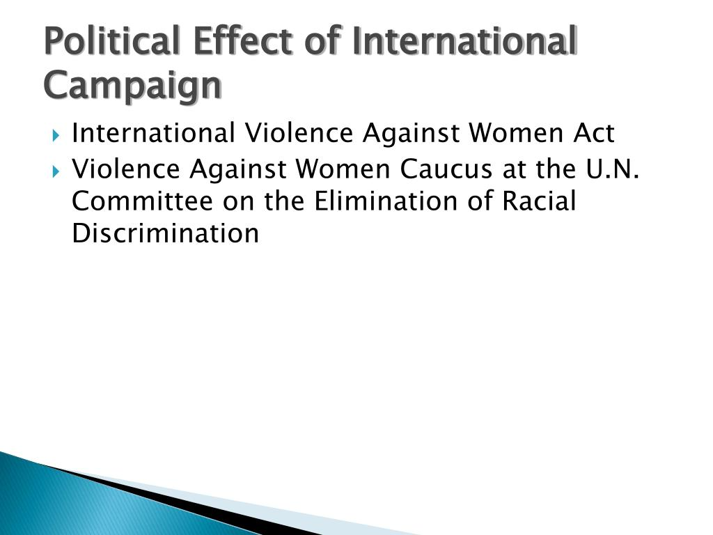 Political Effect of International Campaign