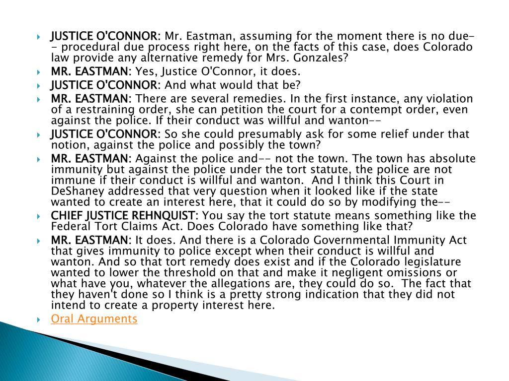 JUSTICE O'CONNOR: