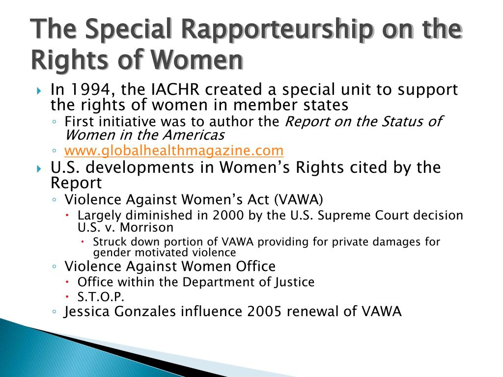 The Special Rapporteurship on the Rights of Women