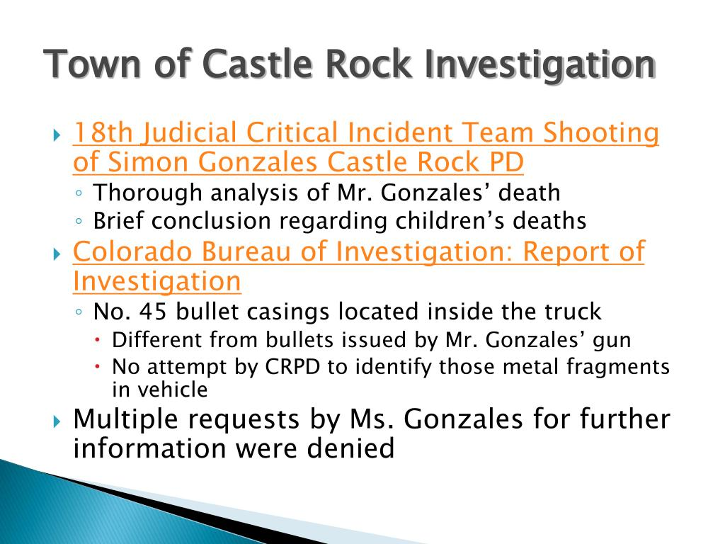 Town of Castle Rock Investigation
